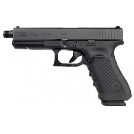 Glock 17 gen4 MOS s prodlouženou hlavní a závitem, ráže 9 mm Luger, černý rám