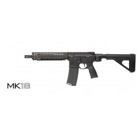 DANIEL DEFENSE MK18, ráže 223 Rem., barva FDE, folding brace stock