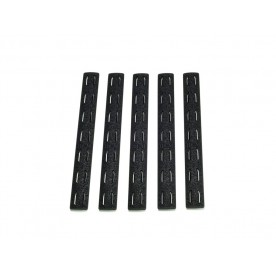 BCMGUNFIGHTER™ KeyMod Rail Panel Kit, 5.5-inch - Black (5 pack)