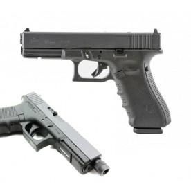 Glock 17 gen4 MOS (Modular Optic System), prodloužená hlaveň, ráže 9 mm Luger, černý rám