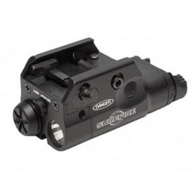 Svitilna SUREFIRE XC2, kompaktní zbraňová svítilna, 300 lm, červený laser