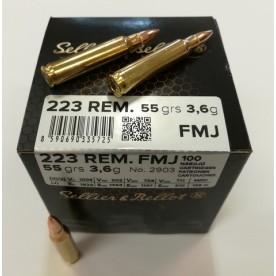 Náboje SB 223 FMJ 3,6g po 100 ks