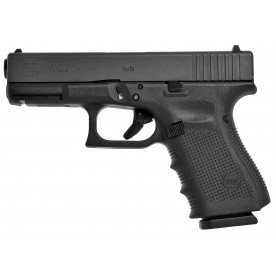 Pistole Glock, model 19 gen4, ráže 9 mm Luger, černý rám