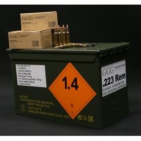 Náboje GGG .223 Rem. / 55 gr (3.56g) FMJ, Box 1000ks