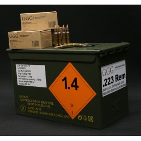 Náboje GGG .223 Rem. / 55 gr (3.56g) FMJ / bal. 50ks / 1ks 11.10,- CZK
