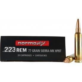 Náboje NORMA .223 Rem. 1ks / 41,20Kč 77gr HPBT Sierra MK - balení po 20 ks