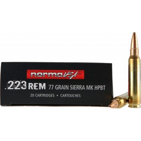 Náboje NORMA  223 Rem  1ks / 41,20Kč 77gr HPBT Sierra MK - balení po 20 ks  - Selection Armory