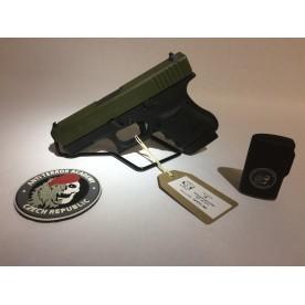 Pistole Glock, model 36, ráže .45 ACP, cerakote OD Green (ATAC)