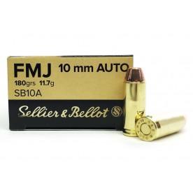 Náboje SB 10mm AUTO, FMJ 11,7g, 180grs, 1ks/ 8.50,- Kč - balení po 50 ks