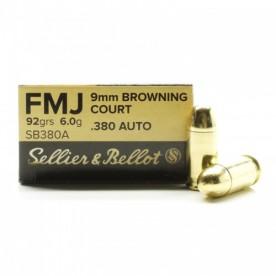 Náboje SB 9mm Browning COURT FMJ 6,0g, 92grs, 1ks / 7,20Kč - balení po 50kss