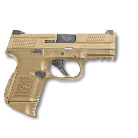 Pistole FN USA, model FNS™-9 Compact, barva FDE