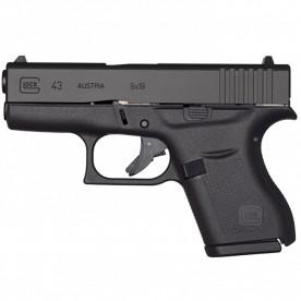 Pistole Glock, model 43, ráže 9 mm Luger, černý rám
